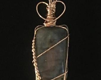 Labradorite and 14k Gold Filled Pendant