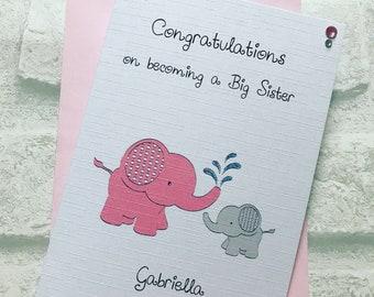 New Big Sister, New Big Brother Congratulations Card