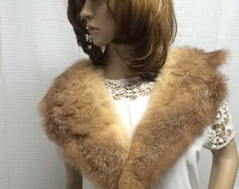 Fur collar, blonde, brown, fur, Vintage fur