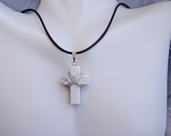 Handcrafted jewelry inspired by the holy spirit by holyfiredesigns wire wrapped stone cross necklaceunisex christian necklacemens jewelrywomene jewelrychristian jewelry aloadofball Image collections