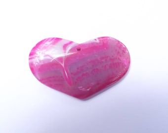 Large pink agate heart BILL-212