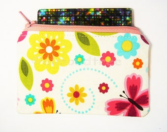 flora not padded women wallet, id credit card case small coin purse, id1370621, portemonnaie moneybag small zip pouch, portefeuille