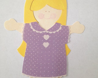 Paper Doll Girl Dress Attire