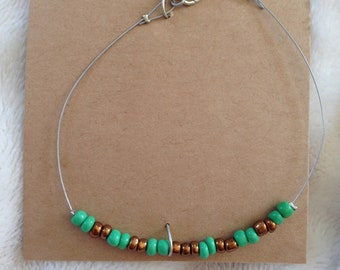 Green & Gold Bracelet (S)