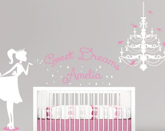 Ballerina Wall Decal Glitter Wall Decal Nursery Wall Decal