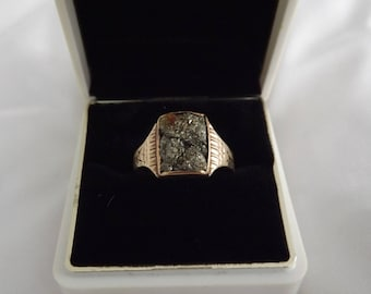 Victorian 10k Yellow Gold Fools Gold Pyrite Ring-On Sale Now!