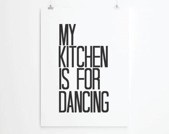 Inspirational quotes, quote prints, quote posters, happy art, typography poster, happiness , positive quotes, kitchen Art Print