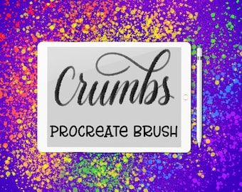 Crumbs lettering brush for Procreate