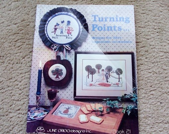 Cross Stitch and Embroidery Patterns, Turning Points, June Grigg, Book 21, 1983