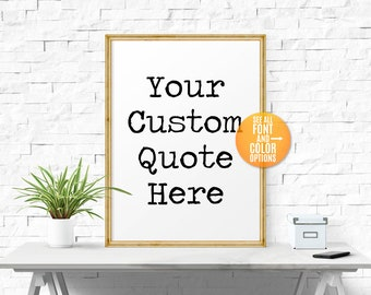 Custom Typography, Custom Wall Art,Large/Small Custom Signs For Home,Custom Quote Print,Custom Prints,Text,Personalized Typography Poster
