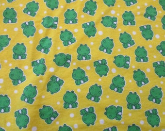Flannel Fabric with frogs