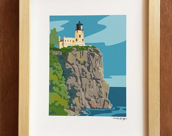 Split Rock Lighthouse, art print