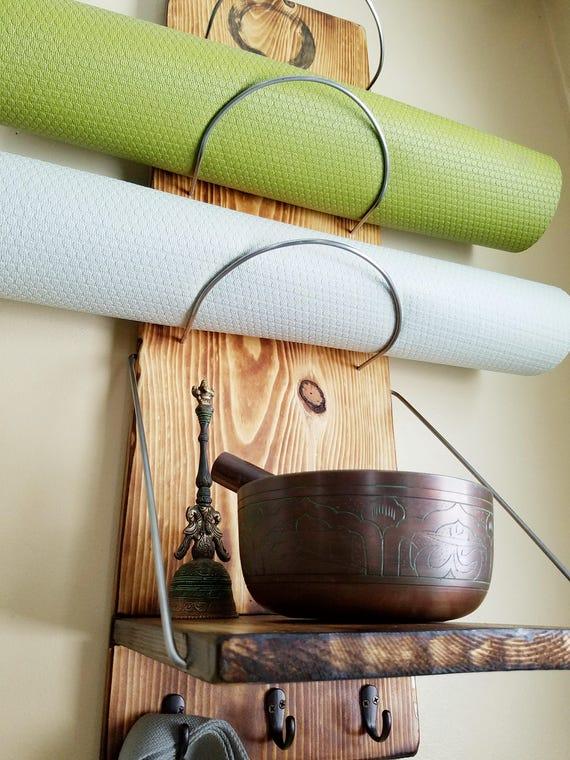 Yoga Mat Storage Shelf Yoga Yoga Supplies Yoga Storage