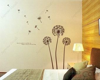 custom for sprigger - Dandelions - Removable Vinyl Art