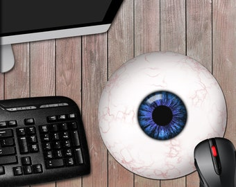 Eyeball 8 Inch Round Novelty Computer Mousepad - Novelty Mouse Pad - Eye Ball - Humor - Gag Gift - Funny Gift - Free Shipping