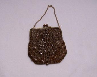 Steel beaded purse