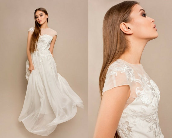 evening ball line wedding dress summer bridal dress sleeves light dress princess silk A short or gown prom Classic gown wedding rustic w80Zqn6