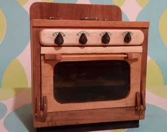 Kitchen for Barbie / Kitchen for doll / Miniature kitchen / Furniture for doll in wood