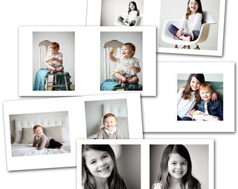 Clean 8x8 Session Album - Photoshop Template Download by Photographer Cafe