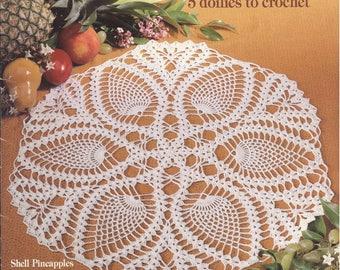 Pineapple Parade Crochet doily pattern Crochet lace pattern Pineapple crochet pattern Pdf file