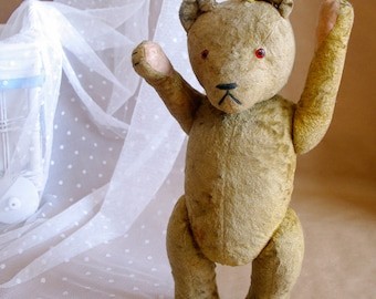 Antique  Teddy Bear Gottfried Kraeber GOKRA plush teddy bear 1945-1952 German Old Vintage RARE