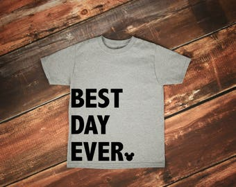 SALE! Best Day Ever Disney Tee, Family Disney Shirts, Boy Disney, Girl Disney, Baby Disney, Toddler Disney, Child, Mickey Mouse, Vacation