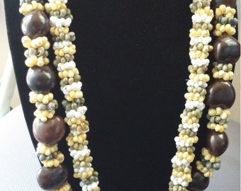 Hawaiian kukui nut necklaces