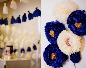 Hand Painted Tissue Paper Flowers