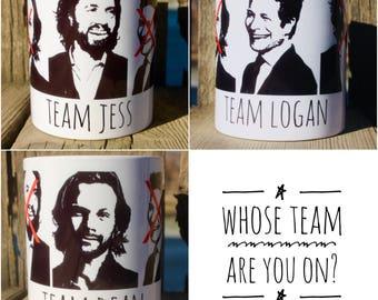 Team Logan/Team Jess/Team Dean mugs