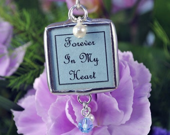 Something Blue Bridal Bouquet Photo Charm Wedding Bouquet Charm