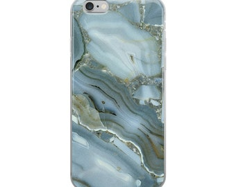 Marble Blue iphone Case