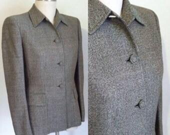 final sale --- Vintage 1940s 1950s Wool Tweed Suit Jacket