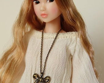 Lotus necklace  - Handmade jewerly for Momoko and 1/6 fashion dolls (11 colors)