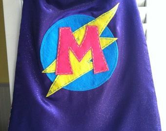 Purple Superhero Cape -PERSONALIZE/CUSTOMIZE -Perfect Christmas Gift- Superhero Birthday Party