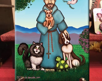 St Francis Art ceramic tile /St Francis of Assisi art  Print / St. Francis Painting /Saint Francis of Assisi  Art / St Francis of Assisi Art