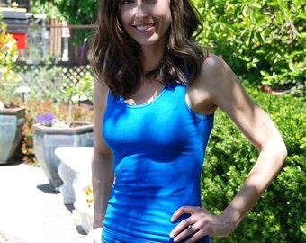 Sky Blue Tank Top by Splash Dye Activewear (Matching top to the Cosmic Swirl Blue Yoga pants & Leggings)