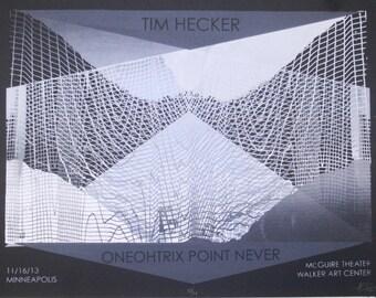 Tim Hecker/Oneohtrix Point Never poster - 2013 Walker Art Center - 18x24