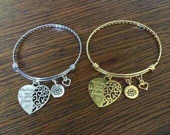 Mother & Daughter Adjustable Bracelets Set