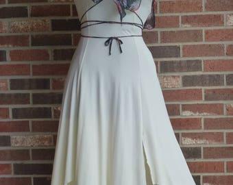 Vintage 1970's Prom Disco Shoulder Bearing Dress