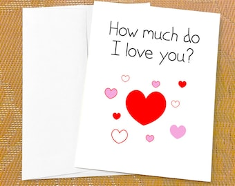 I love you card funny love cards hey i like you card birthday love card for daughter how much do i love you i love you card for friend birthday card from dad from daddy daddys little girl m4hsunfo