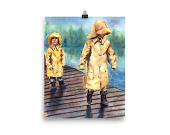 Kids in Rain Coats