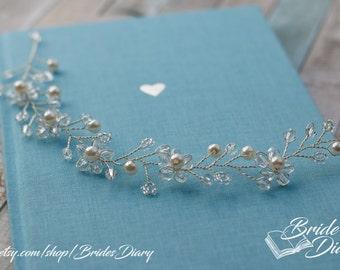 Bridal Wreath, bohemian headband , wedding hair accessories, confirmation hair accessories