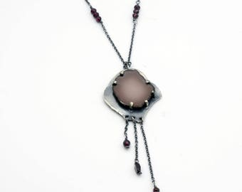 Rare Stone Necklace, Michigan Stone, Pink Stone Necklace, Gift for Her, Unique Gift, Unique Jewelry, Rockstar Jewelry, Valentines Day Gift