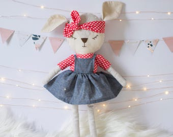 Ragdoll / Fabric doll / Deer soft toy / Forest animals / Handmade / Unique doll