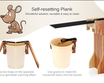 DIY Self-resetting Wooden Plank Mouse Trap