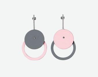 Pastel Dangle Drop Earrings