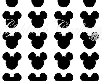 Mickey Mouse Inspired Vinyl Decals/Stickers (set of 25)