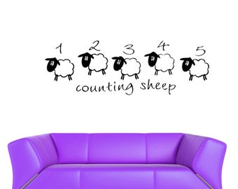 sheep wall art sheep wall decal sheep wall decor sheep wall decor nursery sheep wall stickers (Z465)