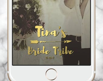 Gold Snap Chat, Bride Tribe Geofilter, Snapchat Filter Bridal Party, Bachelorette filter, Bridal Shower Geofilter, Snap Chat Template, Hens