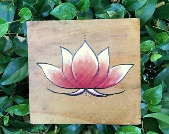 Fiery Lotus Wall Hanging
